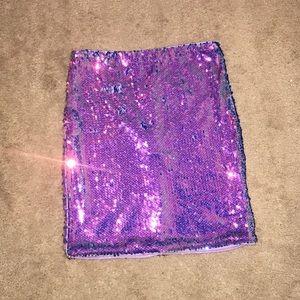 Windsor glitter mini skirt